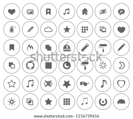 ART icons set - vector graphic design illustrations