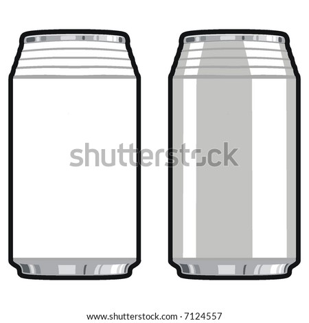 art illustration in black and white: cans