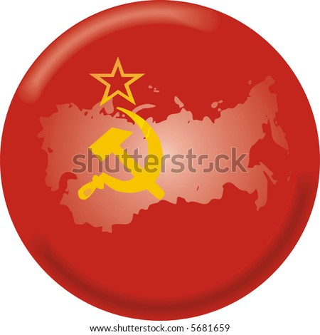 map of ussr. with map and flag of ussr