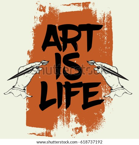 art is life quote