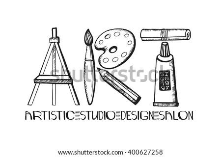art letteringart salon design