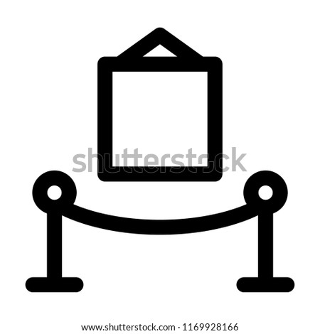 Art Museum Icon Logo Outline Vector