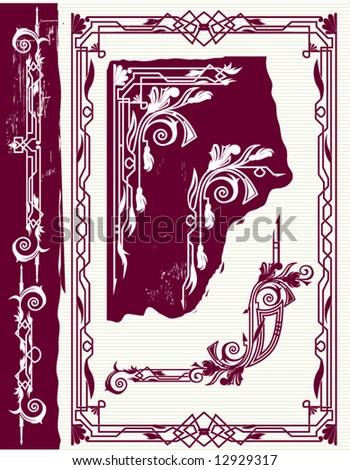 Art Nouveau Design Elements. stock vector : Art Nouveau