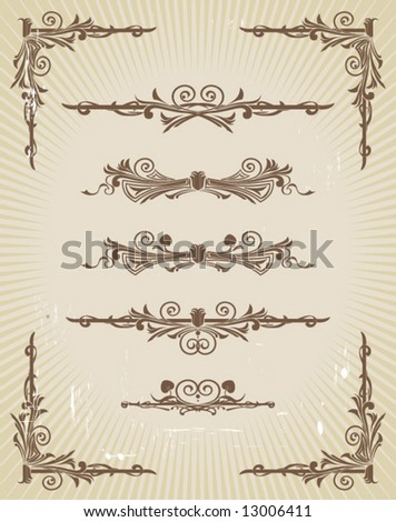 stock vector : Art Nouveau design elements