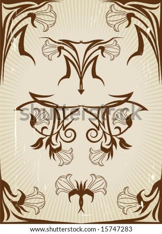 Art Nouveau Designs. stock vector : Art Nouveau