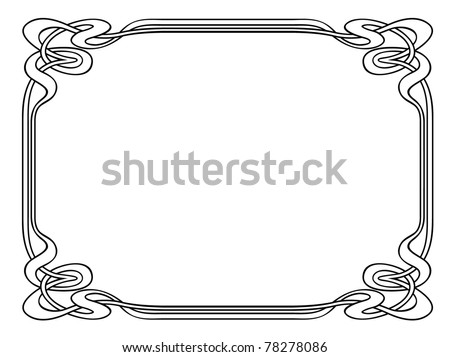 nouveau ornamental decorative frame stock vector illustration 78278086