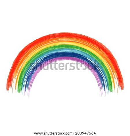 art rainbow abstract vector