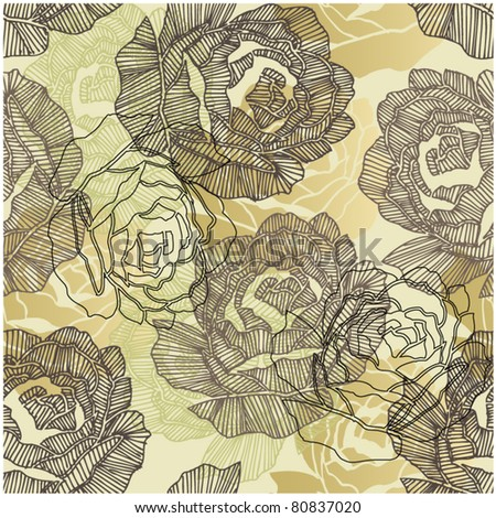 art roses seamless ornament grunge background