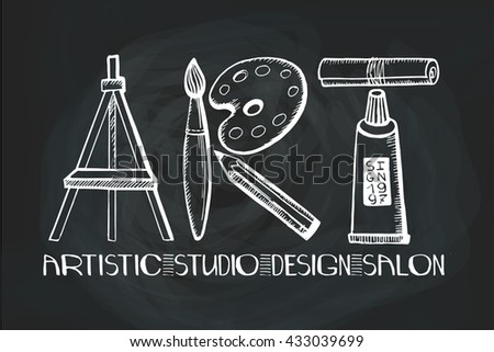 art salon design studio logo