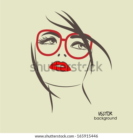 art sketched beautiful girl