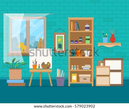 art studio interior creative