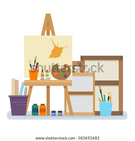 art studio interior creative