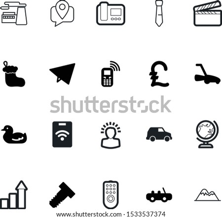 art vector icon set such as: build, hollywood, banking, stamp, suit, plane, store, air, bird, personal, education, solution, mountains, scene, geometric, track, film, beak, decorative, hill, animal