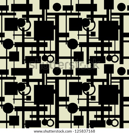 art vintage geometric pattern background with black and white