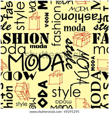 art vintage word seamless pattern moda fashion background