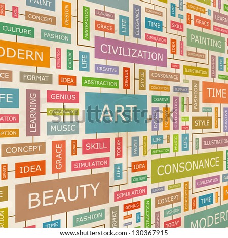 art word collage vector