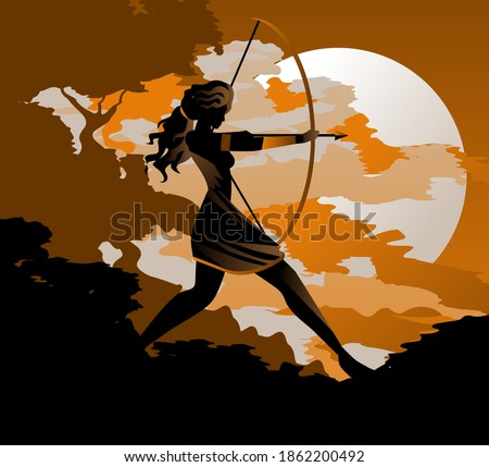 artemis diana goddess greek roman of the hunters Foto d'archivio ©