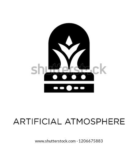 Artificial atmosphere icon. Artificial atmosphere symbol design from Artificial Intellegence collection.