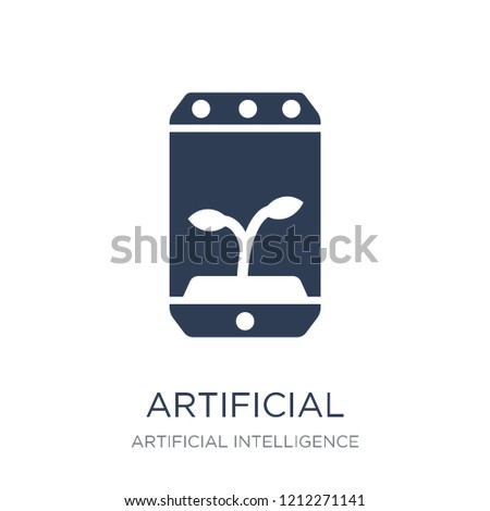 Artificial atmosphere icon. Trendy flat vector Artificial atmosphere icon on white background from Artificial Intelligence, Future Technology collection, vector illustration