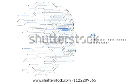 Artificial Intelligence and Big Data, Internet of Things Concept