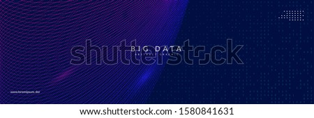 Artificial intelligence background. Digital technology, deep learning and big data concept. Abstract tech visual for science template. Partical artificial intelligence background.