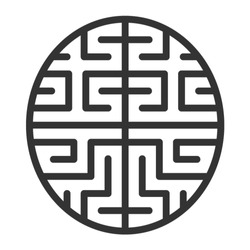 Artificial intelligence brain chip or machine learning line art vector icon for apps and websites