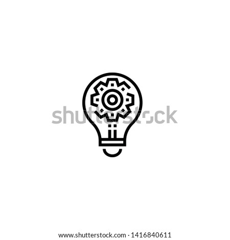 Artificial intelligence vector. Artificial intelligence symbol. Linear style sign for mobile concept and web design. Artificial intelligence symbol illustration. Pixel vector graphics - Vector.