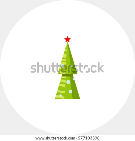 artificial new year tree icon