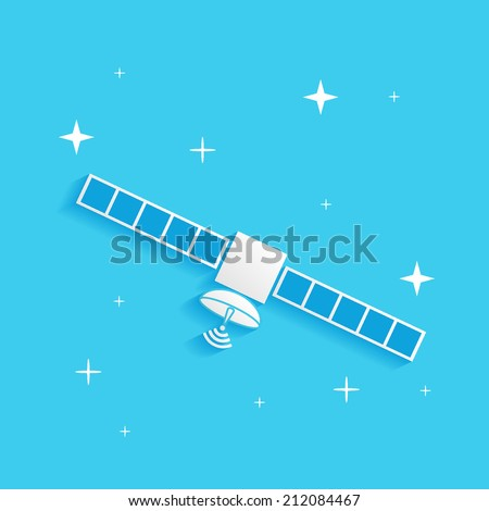 artificial satellite in space