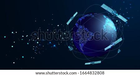 artificial satellites orbiting