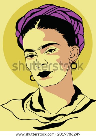 artis frida kahlo portrait