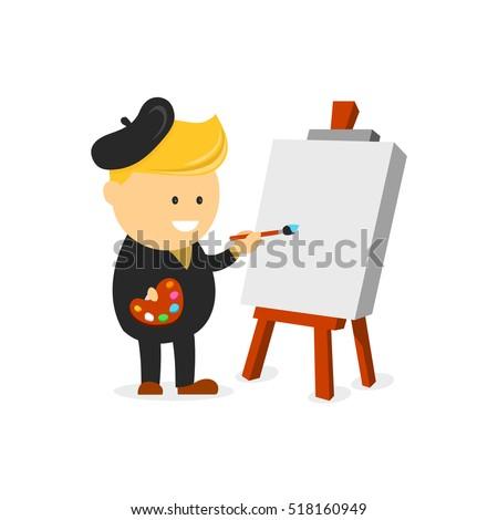 artist beret  painter vector