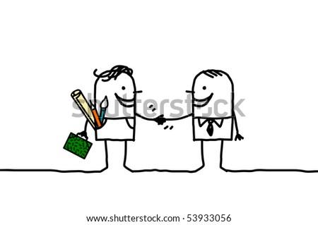 artist   businessman handshake