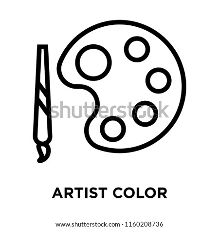 Artist Color Palette icon vector isolated on white background, Artist Color Palette transparent sign , linear symbol and stroke design elements in outline style