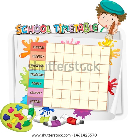 Artist concept for school timetable