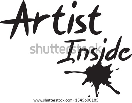 Artist inside art -  design