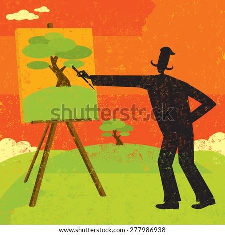 artist painting an artist
