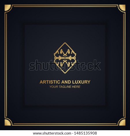 Artistic and luxury logo. Can use for boutique, restaurant, hotel, resort, royal, jewelry, heraldic, beauty industry and fashion brand identity. Premium logo. Modern elegant ornament logo design.