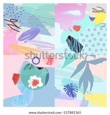 Artistic background.Modern graphic design.Unusual artwork. Design for poster, card, invitation, placard, brochure, flyer, web. Vector.