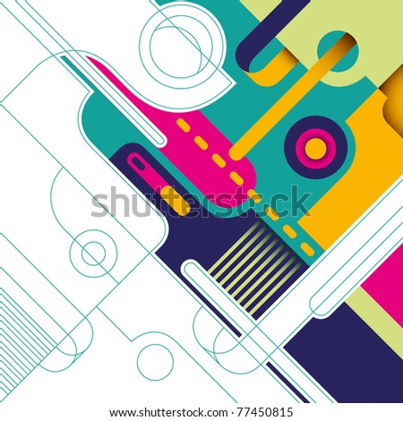 Artistic background with colorful abstract composition. Vector illustration.