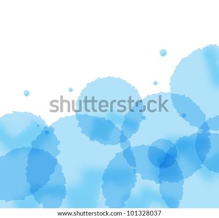 Artistic blue splash vector background
