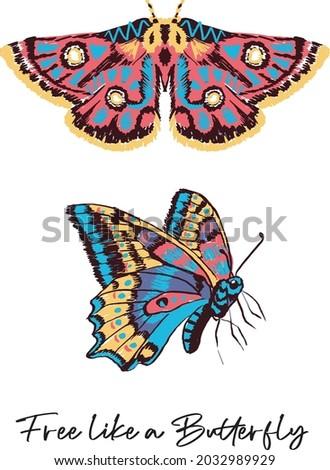 Artistic Butterflies, folk art butterflies, Butterfly, Colorful Butterflies, Free like a butterfly, Butterflies