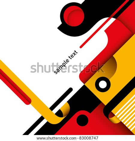 Artistic colorful layout with abstraction. Vector illustration.