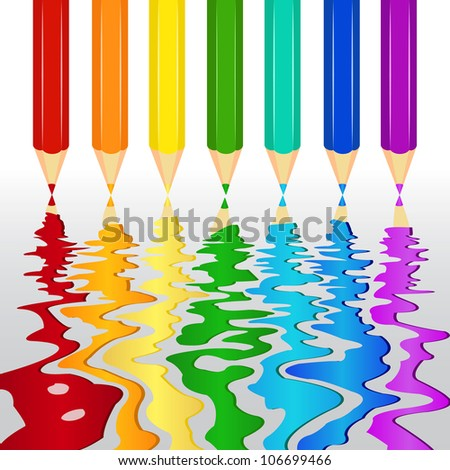 Artistic colorful pencil| Editable Illustration