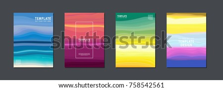 Artistic covers or poster design. Creative colours backgrounds vector design
