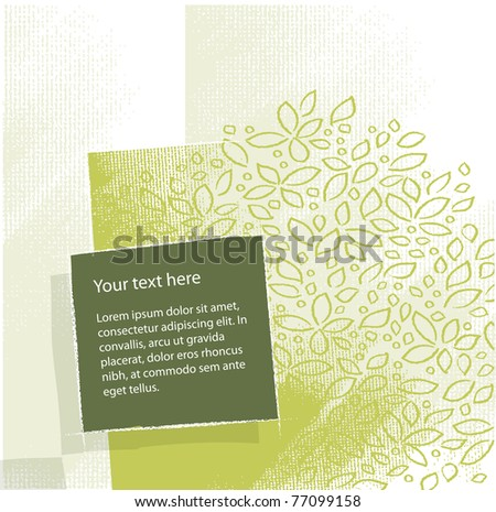 artistic floral background, textured grunge background, vector