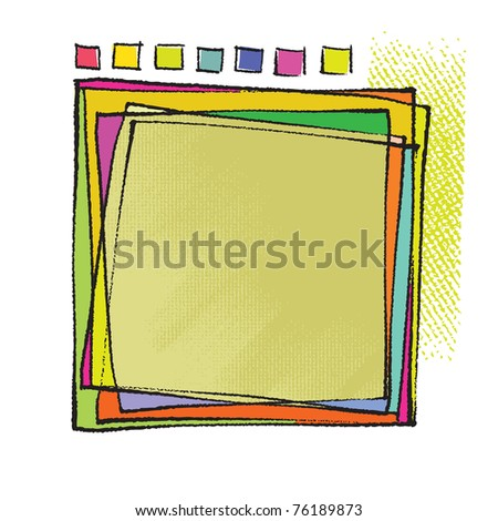Artistic framing design (chalk technique, vector)
