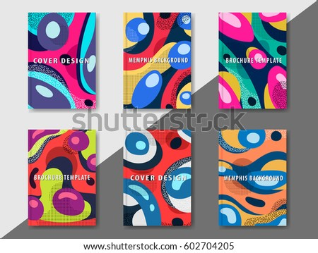 artistic funky design for print