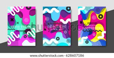 artistic funky design for print