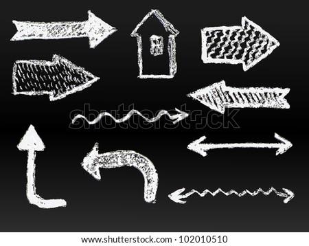 artistic hand drawn arrows